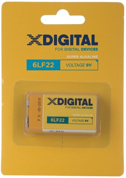 Батарейка 9V, 6LR61/MN1604/6LP3146/6LF22/PP3/ER9V/Крона/Корунд, Alkaline X-Digital - фото 1