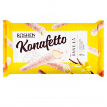Трубочки вафельные Konafetto c ванильной начинкой, 140г.