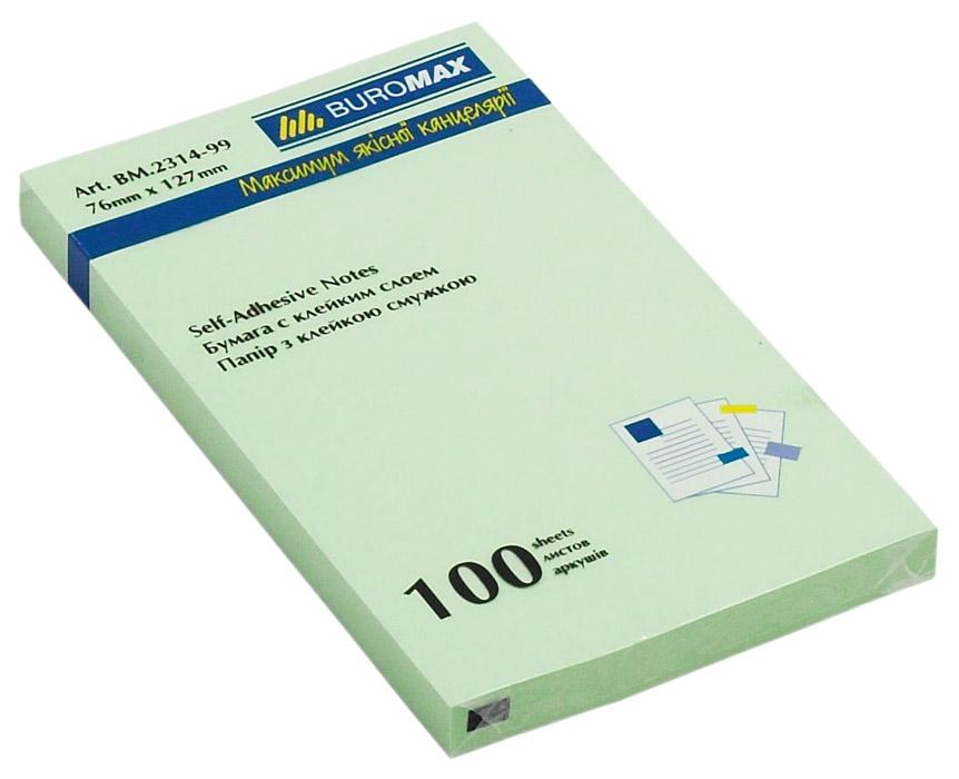 Блок бумаги с клейким слоем 127*76мм.*100 листов mix BuroMax - фото 5
