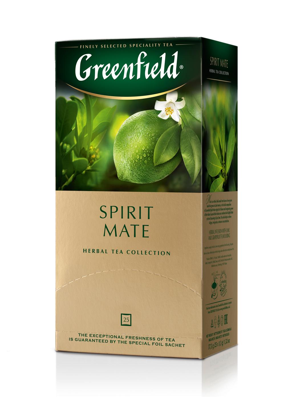Чай травяной Spirit Mate 100пак. по 2гр., термосаше, в пакете Greenfield - фото 1