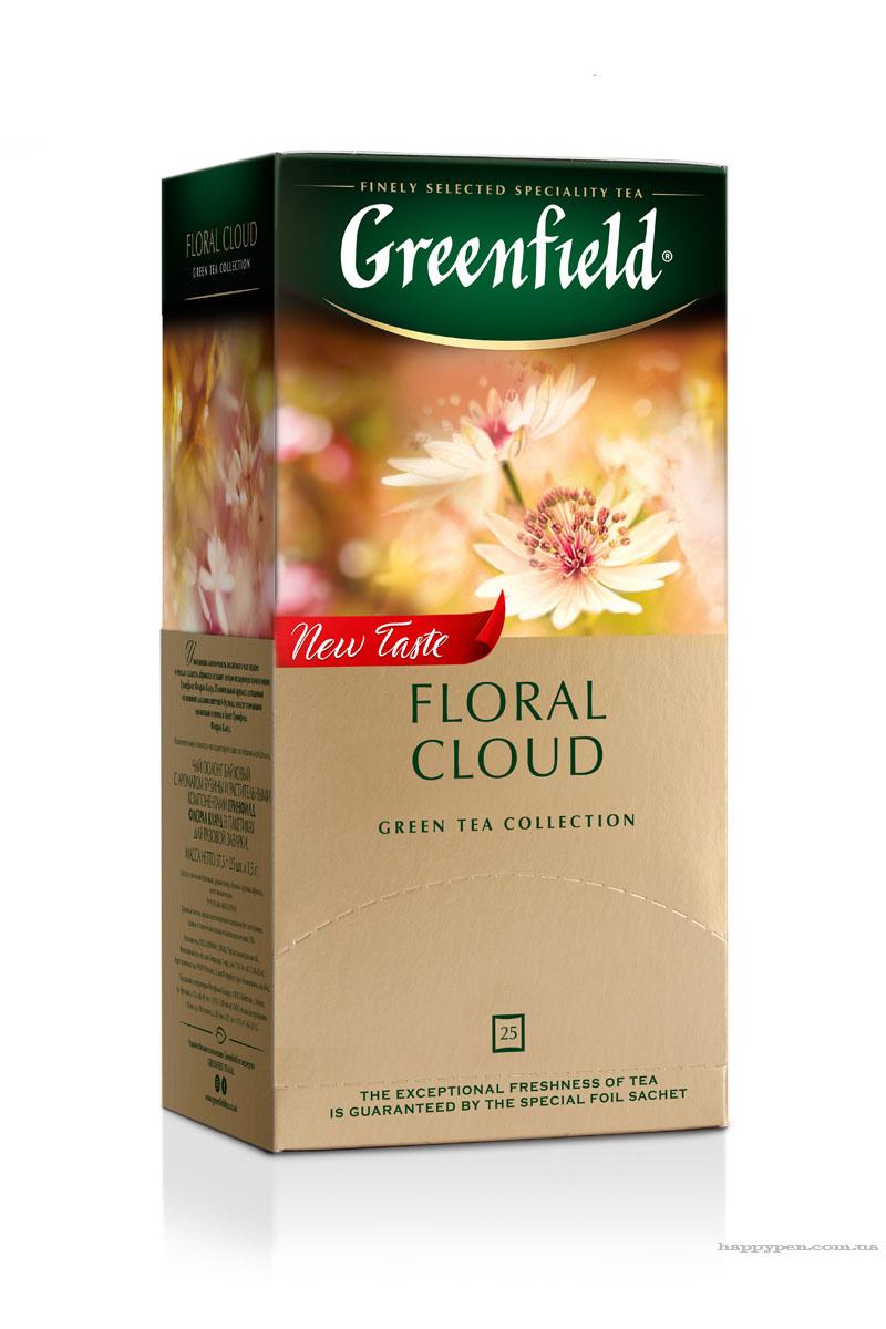 Чай зеленый ароматизированный улун Floral Cloud 100пак. по 2гр., термосаше, в пакете Greenfield - фото 1