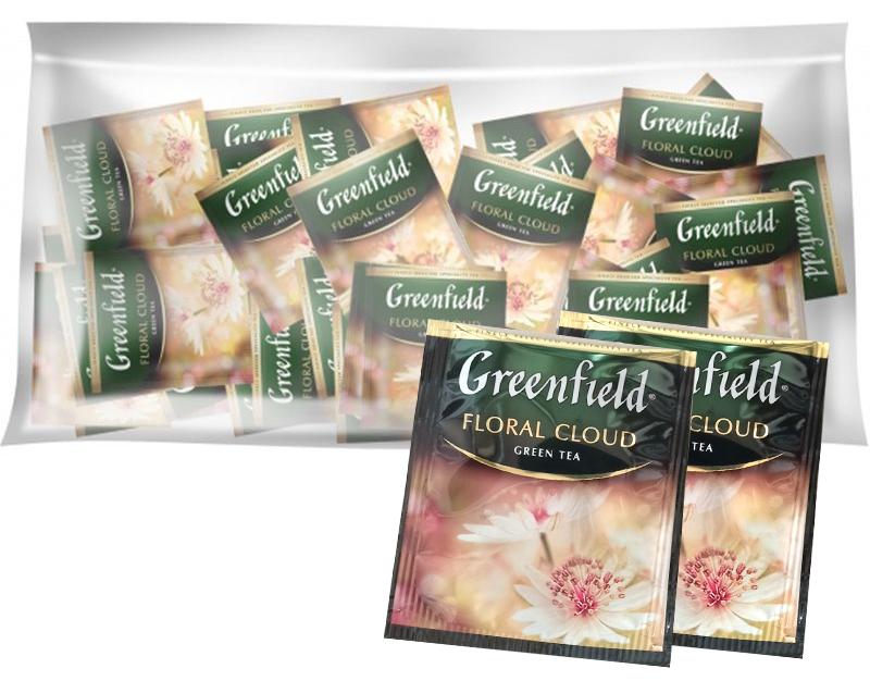 Чай зеленый ароматизированный улун Floral Cloud 100пак. по 2гр., термосаше, в пакете Greenfield - фото 2