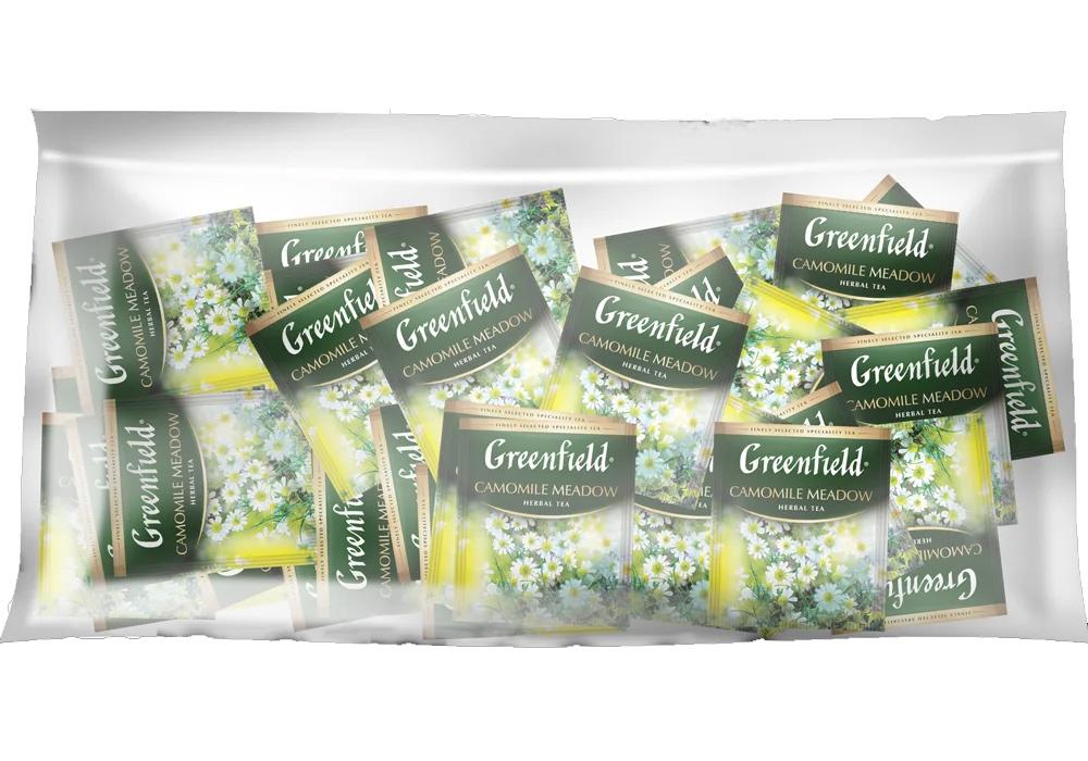 Чай травяной Camomile Meadow 100пак. по 2гр., термосаше, в пакете Greenfield - фото 2