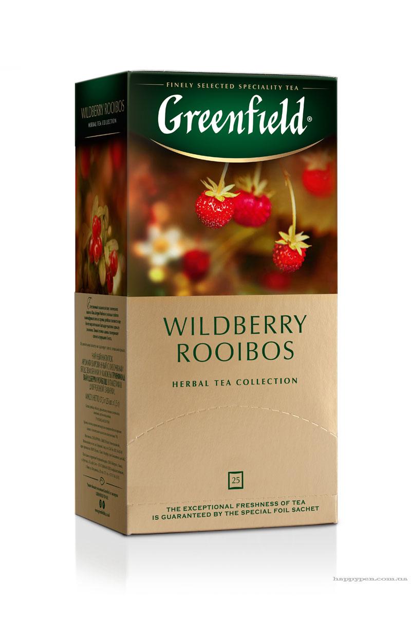 Чай травяной Wildberry Rooibust 100пак. по 2гр., термосаше, в пакете Greenfield - фото 1