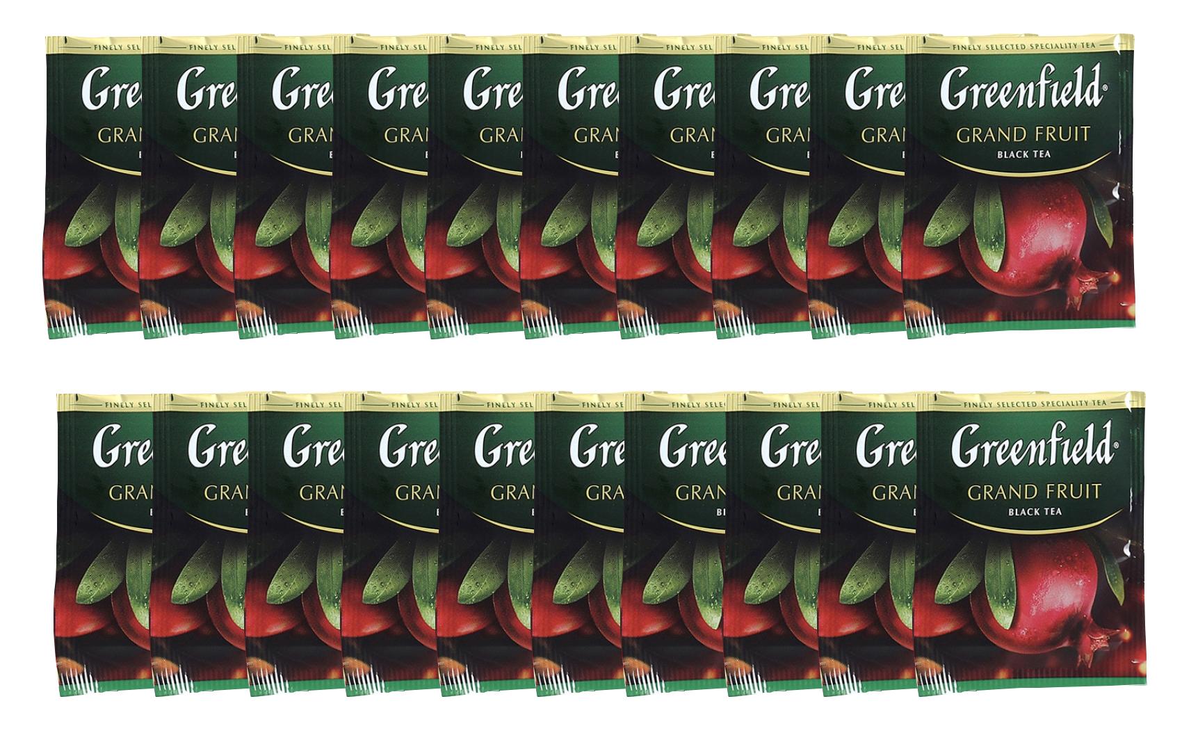 Чай черный ароматизированный Grand Fruit 100пак. по 2гр., термосаше, в пакете Greenfield - фото 2