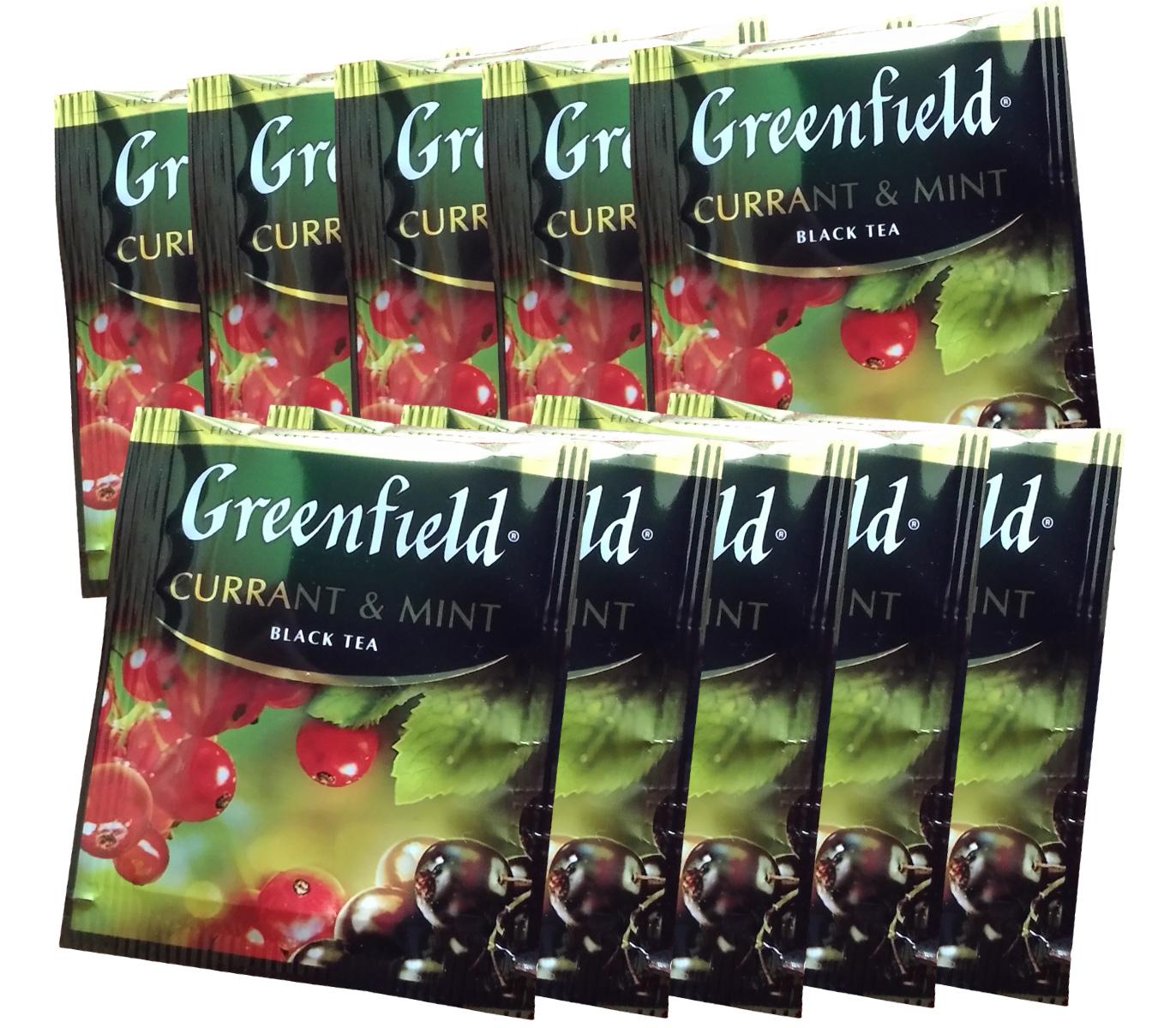 Чай черный ароматизированный Currant & Mint 100пак. по 1,5гр., термосаше, в пакете Greenfield - фото 2