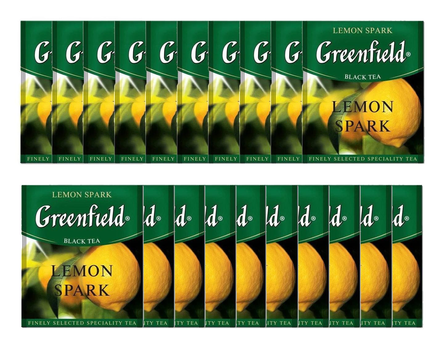 Чай черный ароматизированный Lemon Spark 100пак. по 1,5гр., термосаше в пакете Greenfield - фото 2