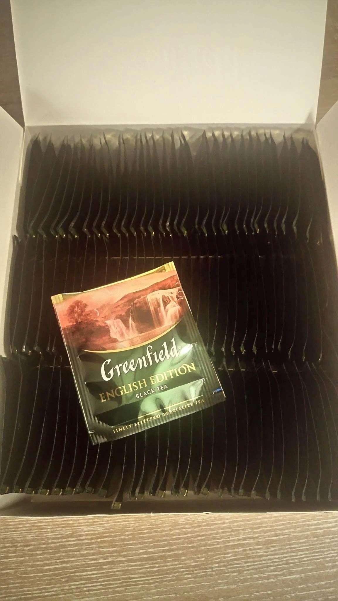 Чай черный классический English Edition 100пак. по 2гр., термосаше, в пакете Greenfield - фото 2