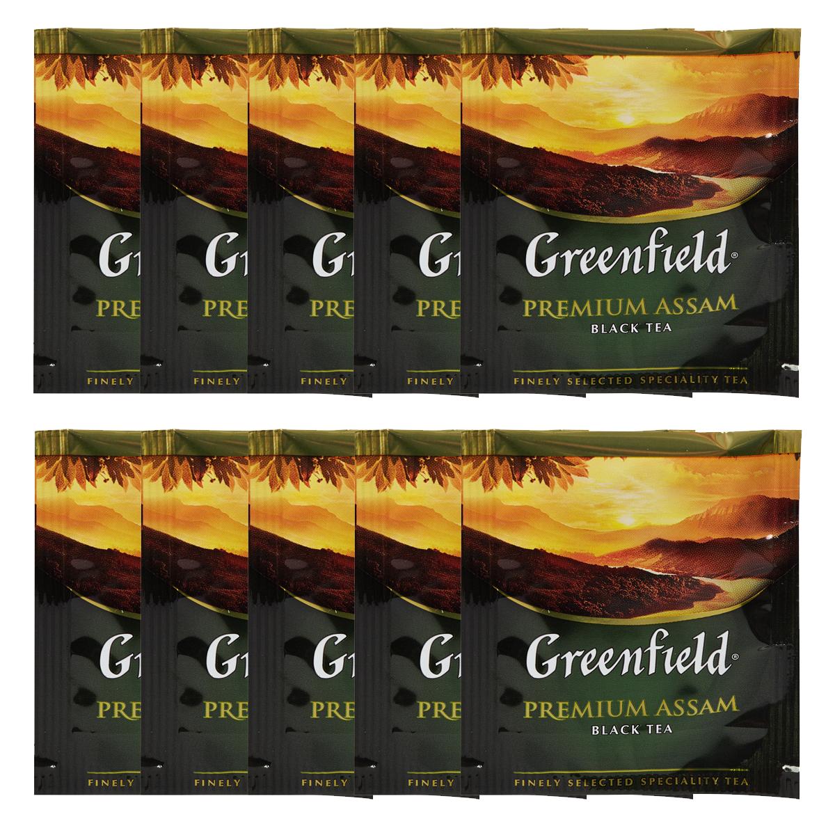 Чай черный классический Premium Assam 100пак. по 2гр., термосаше в пакете Greenfield - фото 2