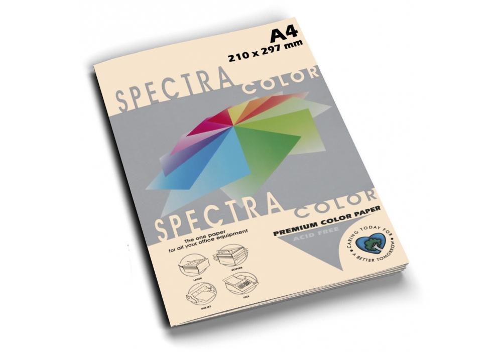 Бумага цветная Color A4 пастель 160г./м2. Ivory, 250лист., слон.кость Spectra Color - фото 1