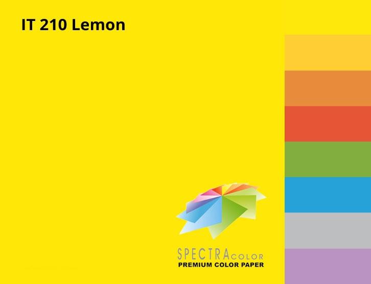 Бумага цветная Color A4 интенсив 160гр./м2. Lemon, 250листов, желт. Spectra Color - фото 2