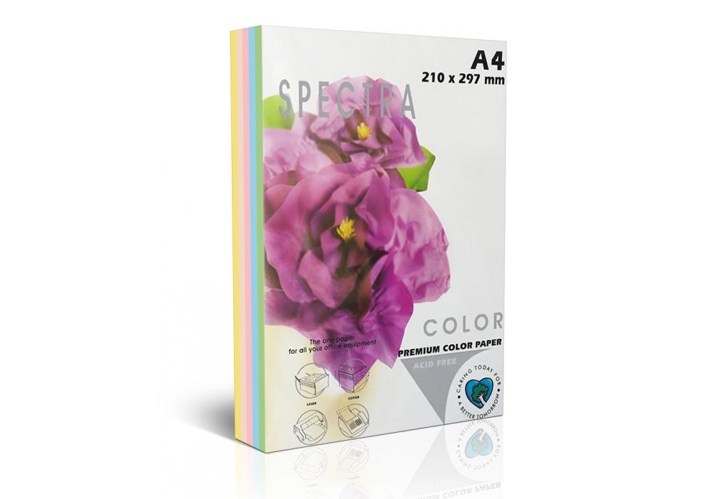 Бумага цветная Color A4 интенсив 80г./м2. Rainbow Pack Deep, 100листов, 5 цветов Spectra Color - фото 1