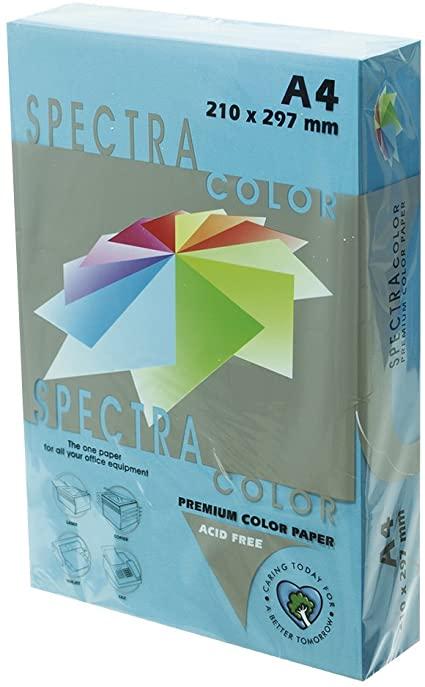 Бумага цветная Color A4 интенсив 80гр./м2. Turquoise, 500листов, темно-син. Spectra Color - фото 1