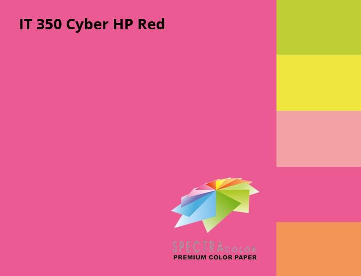 Бумага цветная Color A4 неон 75гр./м2. Red, 500листов, малин. Spectra Color - фото 3