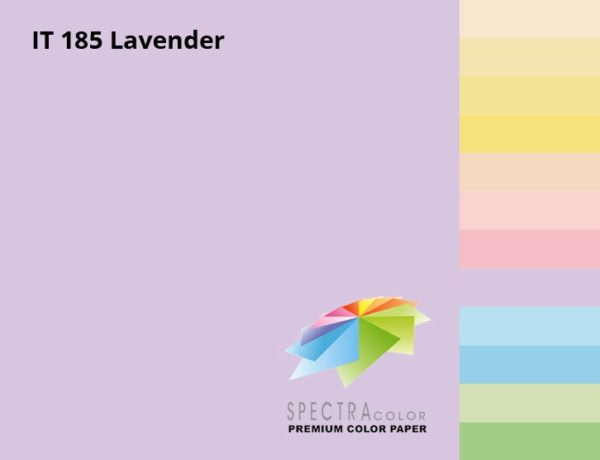 Бумага цветная Color A4 пастель 80г./м2. Lavender, 500листов, лилов. Spectra Color - фото 2