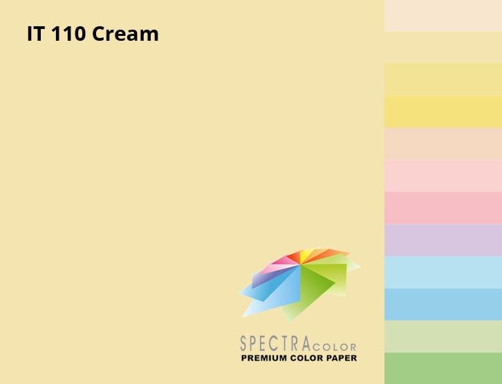 Бумага цветная Color A4 пастель 80г./м2. Cream, 500листов, крем. Spectra Color - фото 2