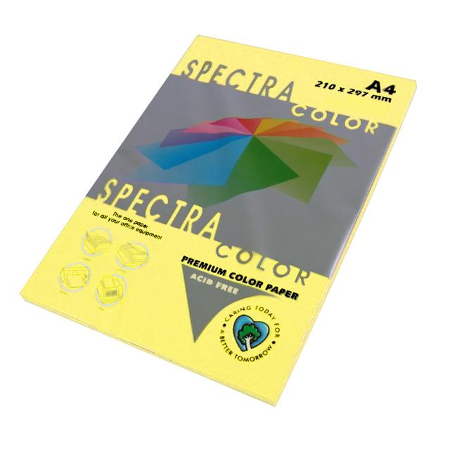 Бумага цветная Color A4 пастель 80г./м2. Canary, 100листов, св.-желт. Spectra Color - фото 1