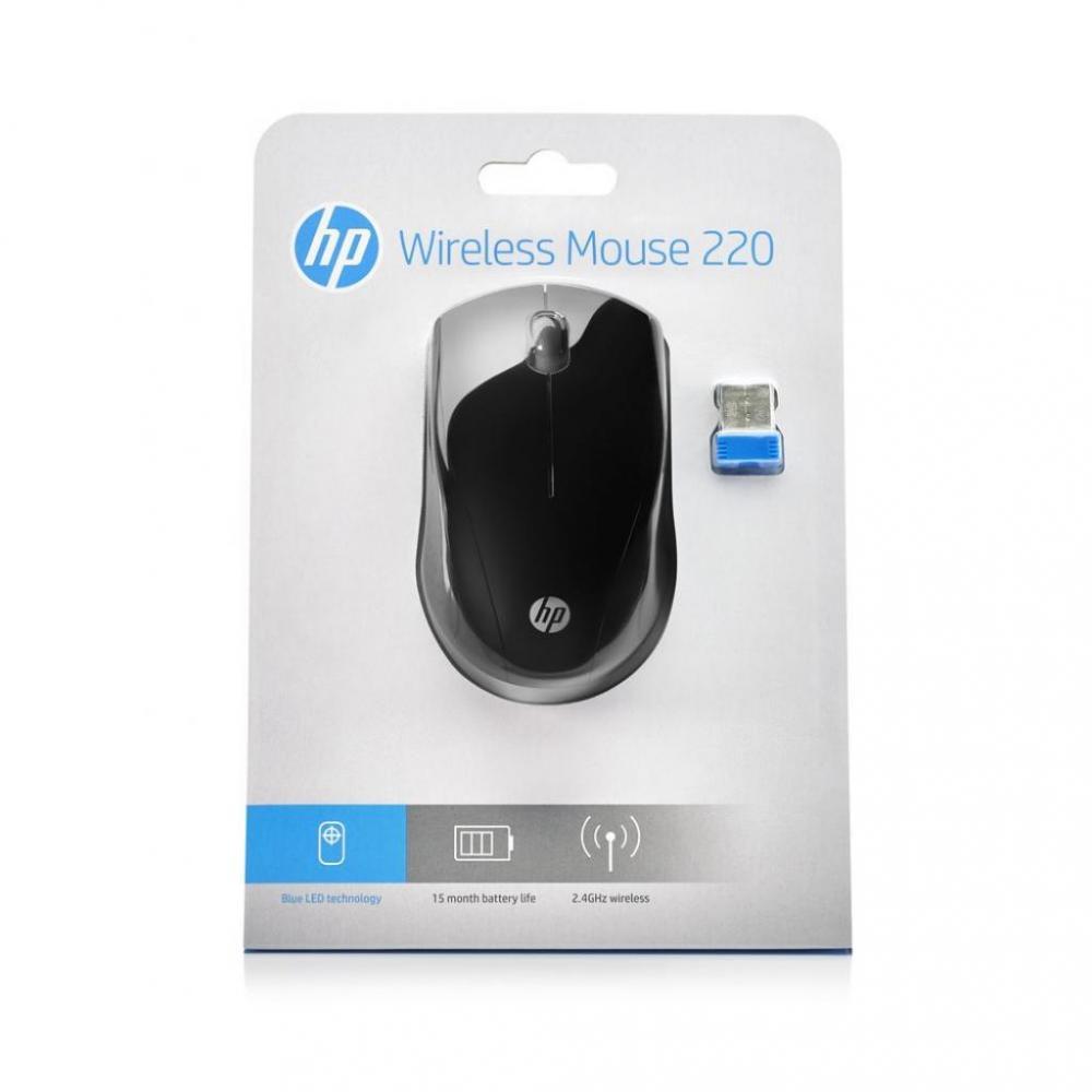 Мышь USB беcпроводная оптическая HP Wireless Mouse 220, черн. HP - фото 4