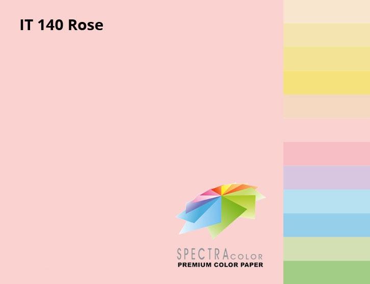 Бумага цветная Color A4 пастель 80г./м2. Rose, 500листов, розов. Spectra Color - фото 2