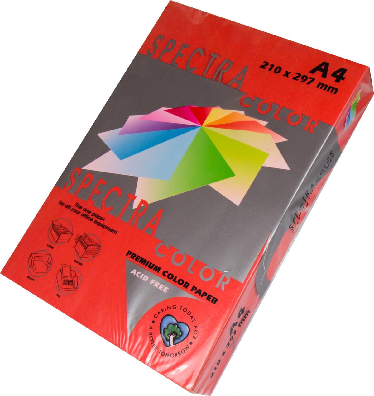 Бумага цветная Color A4 интенсив 80гр./м2. Red, 100листов, красн. Spectra Color - фото 1