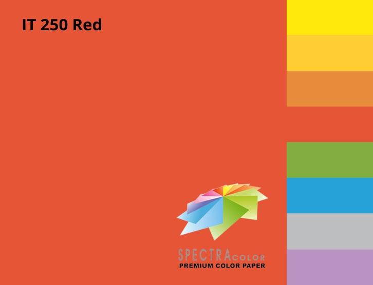Бумага цветная Color A4 интенсив 80гр./м2. Red, 100листов, красн. Spectra Color - фото 2