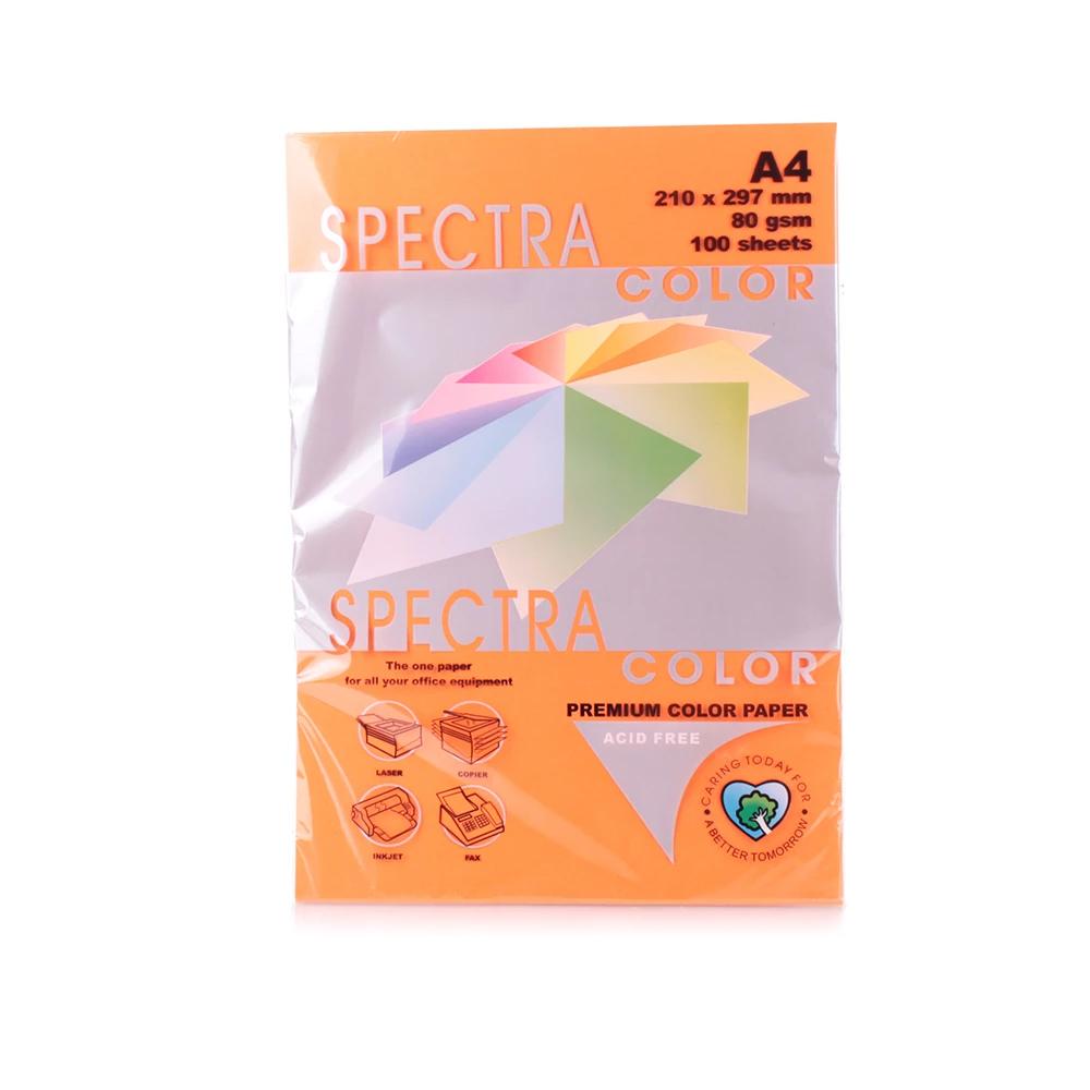 Бумага цветная Color A4 интенсив 80г./м2. Saffron, 100листов, оранж. Spectra Color - фото 2