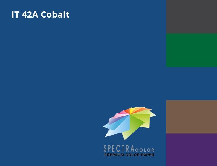 Бумага цветная Color A4 интенсив 80гр./м2. Cobalt 500листов, темно-син. Spectra Color - фото 2
