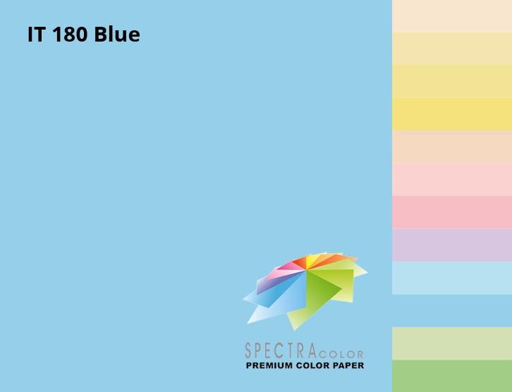 Бумага цветная Color A4 пастель 80г./м2. Blue, 500листов, св.-синий Spectra Color - фото 2