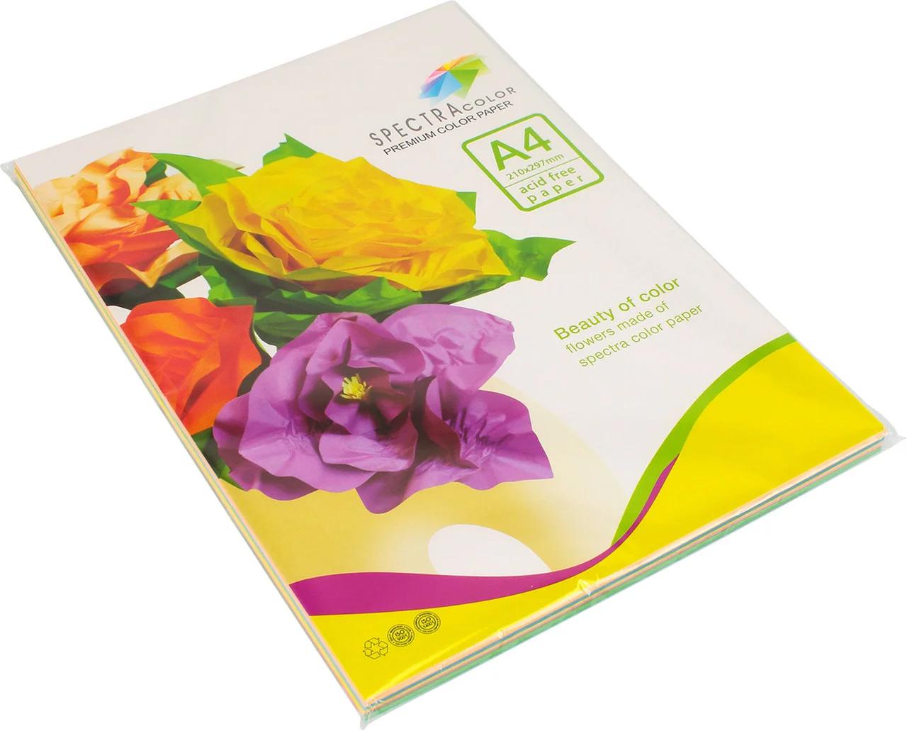 Бумага цветная Color A4 интенсив 80г./м2. Rainbow Pack Deep, 250листов, 10 цветов Spectra Color - фото 1