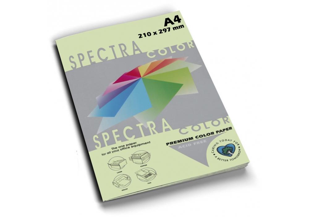 Бумага цветная Color A4 пастель 75г./м2. Lagoon, 500листов, салат. Spectra Color - фото 1