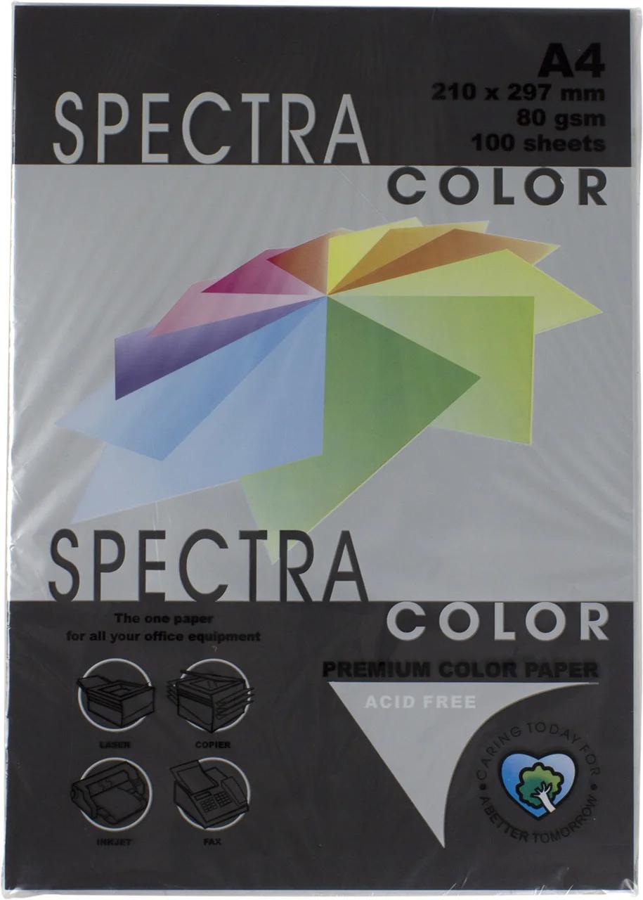 Бумага цветная Color A4 интенсив 80гр./м2. Black, 500листов, черн. Spectra Color - фото 1