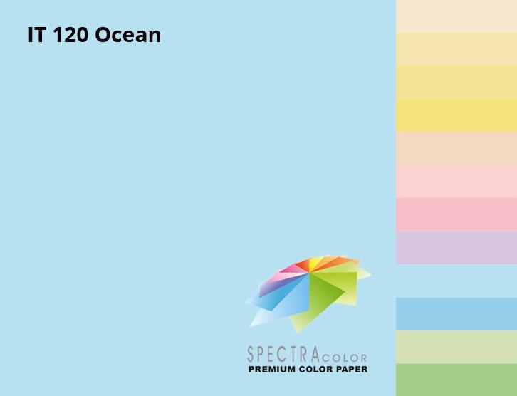 Бумага цветная Color A4 пастель 160г./м2. Ocean, 100листов, голуб. Spectra Color - фото 2