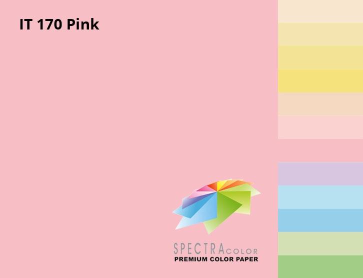 Бумага цветная Color A4 пастель 80г./м2. Pink, 100листов, розов. Spectra Color - фото 2
