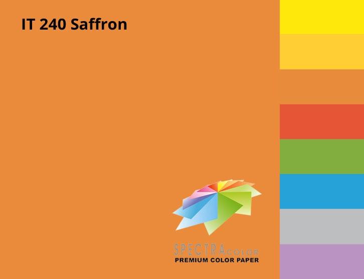 Бумага цветная Color A4 интенсив 160гр./м2. Saffron, 250листов, оранж. Spectra Color - фото 3