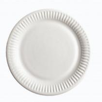 Тарелка бумажная 18см., без делений, 100шт./уп., бел.