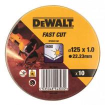 Набор кругов отрезных DT3507 10ед, d=125мм, нержавеющая сталь/листовой металл