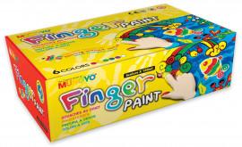 Краски для рисования пальцами 6цв. по 100мл.