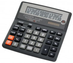 Калькулятор бухгалтерский SDC-660 16 разрядов, 156х156х31,3мм.