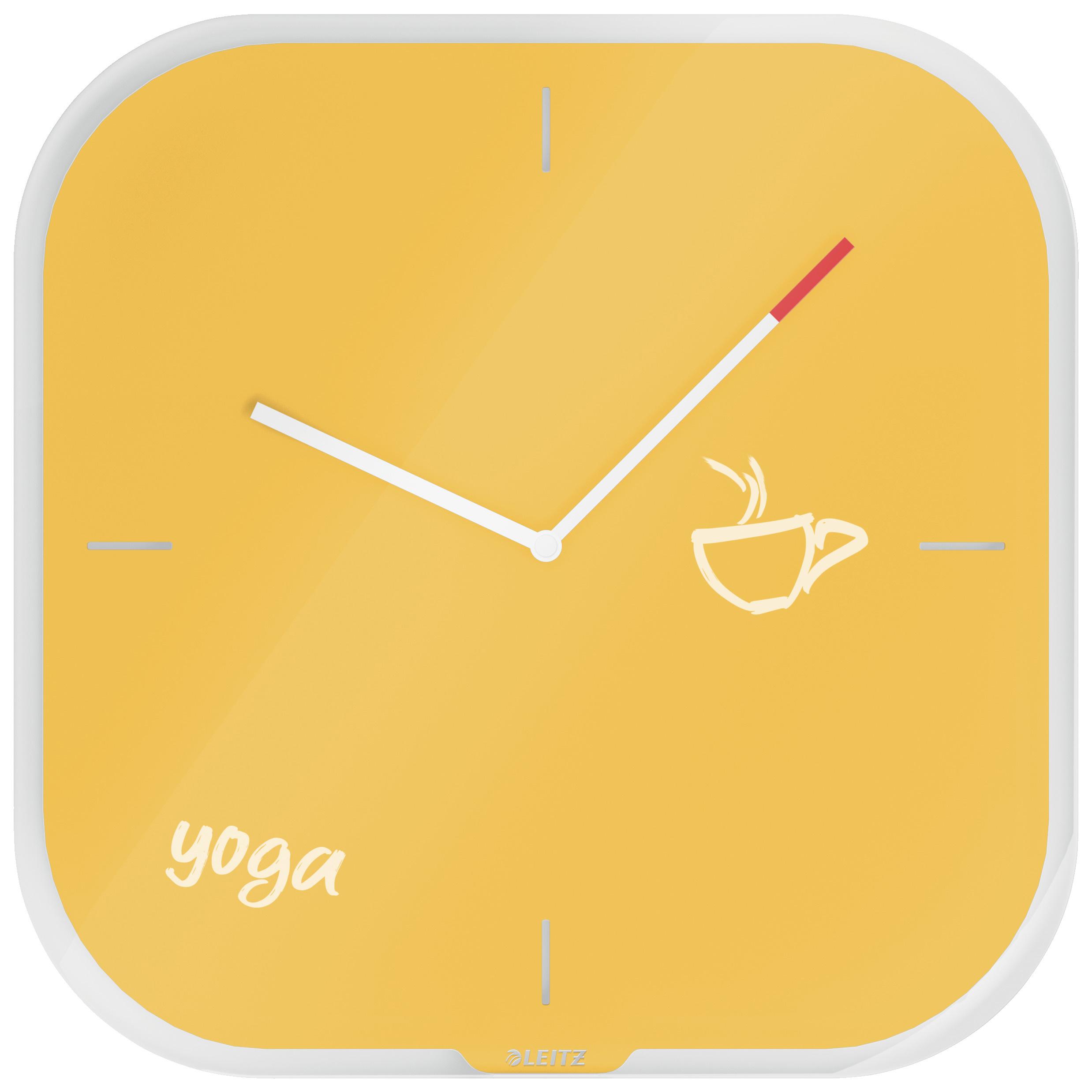 Часы настенные Cosy, квадратные, стекло, желт. LEITZ - фото 5