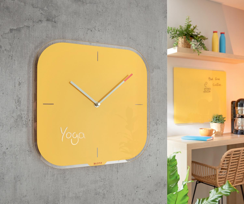 Часы настенные Cosy, квадратные, стекло, желт. LEITZ - фото 6