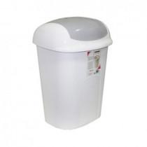 Ведро для мусора с поворотной крышкой, 60л., пластик, бело- сер.