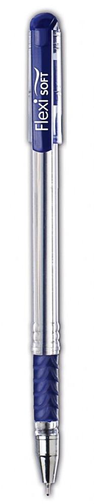 Ручка масляная FLEXI Soft, 0,7мм., корпус прозрачный с грипом., стержень син. Penmate - фото 2