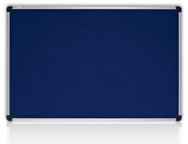 Доска текстильная S-line 90*120см., алюминиевая рамка, син.