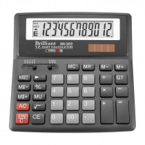 Калькулятор бухгалтерский BS-322 12 разрядов, 156х157х34мм.