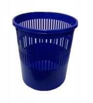 Корзина для бумаг 8л. пластиковая, син.