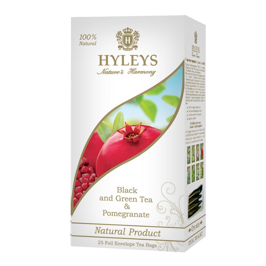 Чай Гармонія природи, черный и зеленый с гранатом, 25пак. по 1,5гр., пакетик в фольге Hyleys - фото 1