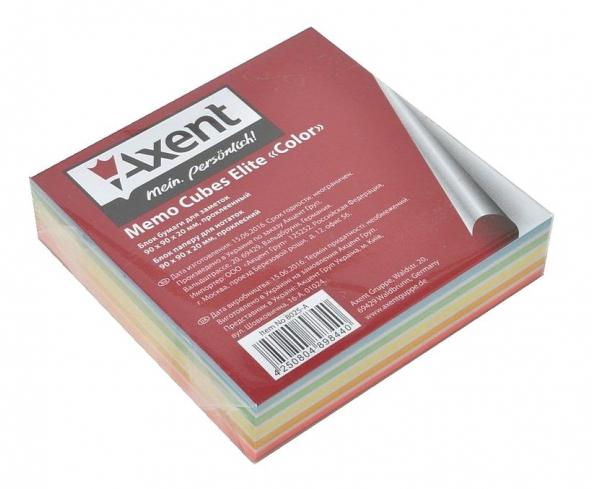 Блок для записи клееный 90*90*20мм., Elite Сolor Axent - фото 3