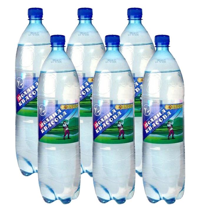 Вода минеральная газированная 1,5л., 6шт./уп., Поляна квасова, пластиковая бутылка УкрМинВоды - фото 2