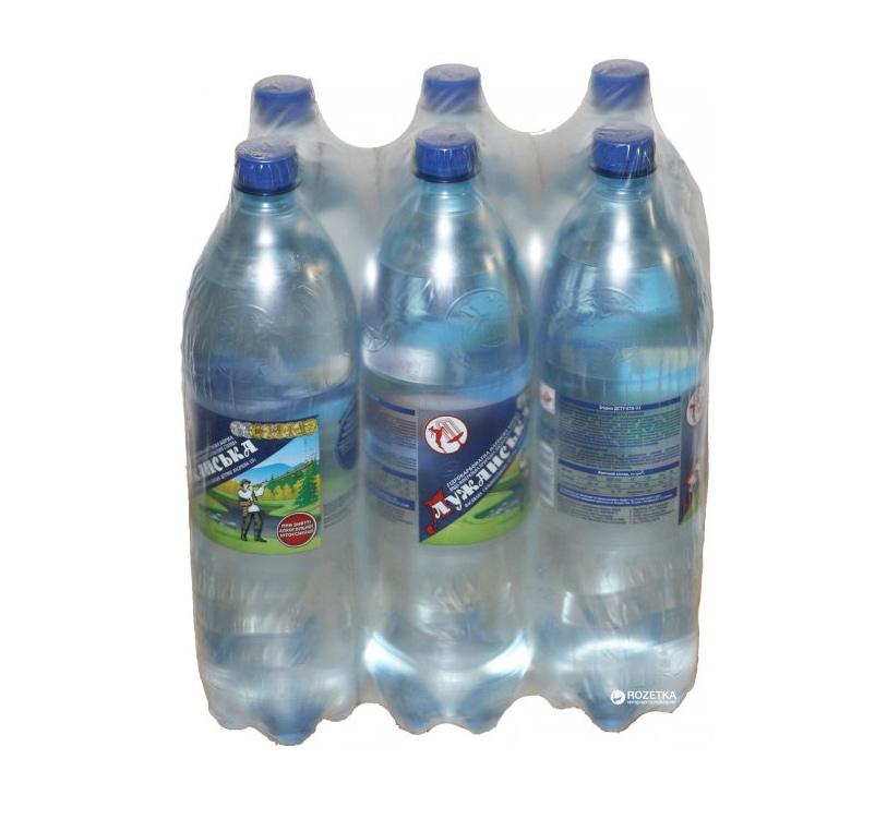 Вода минеральная газированная 1,5л., 6шт./уп., Лужанская, пластиковая бутылка УкрМинВоды - фото 2