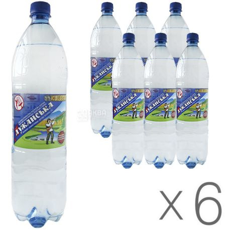 Вода минеральная газированная 1,5л., 6шт./уп., Лужанская, пластиковая бутылка УкрМинВоды - фото 3